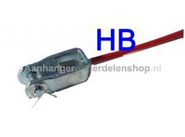 Breekkabel Knott Gaffel/Karabijn 80cm