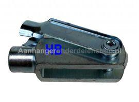Gaffel met Borgclip  M10 x 40