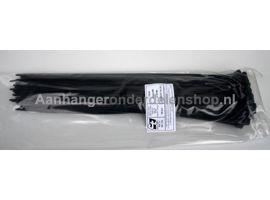 Kabelbundelband Zwart 4.8x370mm.  100st