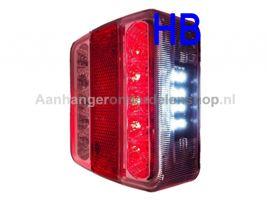 Achterlamp LED 100x100 mm 12V per stuk