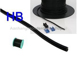 Aspöck kabel 2 Aderige DC 2x0.75 p mtr.