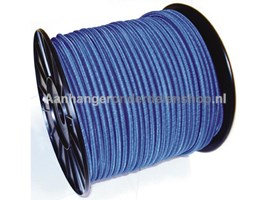 Elastiek kabel  6mm Zwart per meter