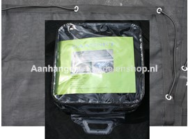 Ladingnet Fijnmazig 290x190 cm Zwart pvc