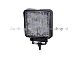 Werklamp LED L0077 Vierkant 9-32V 27W