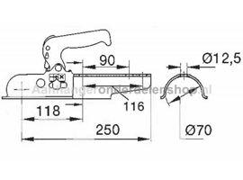 Kogelkoppeling Albe EM80 RG Rond 70mm
