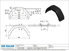 Spatbord Enkel-asser 20cmx66cm kunststof