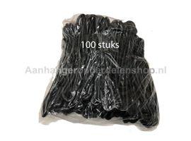 Zeil elastiek Lengte 25 cm PER 100 stuks