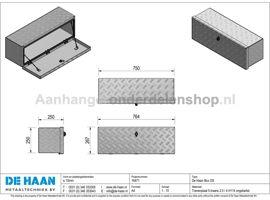 Disselkist De Haan OST L75xH25xD25cm T